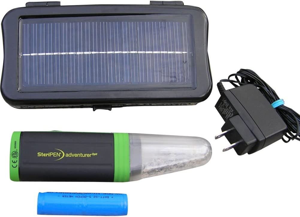 Steripen Opti Solar Pack Portable UV Water Purifier Black//Green