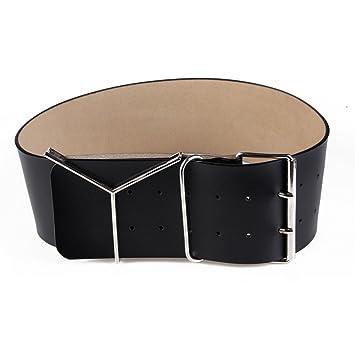 Sammi xie Cinturones de Cuero de Mujer Faldas Decorativas de Mujer Botones  de Aguja Cinturones de Cintura Extra Anchos Cierres de Cintura de Piel de  Vaca ... c5eacc18be8b