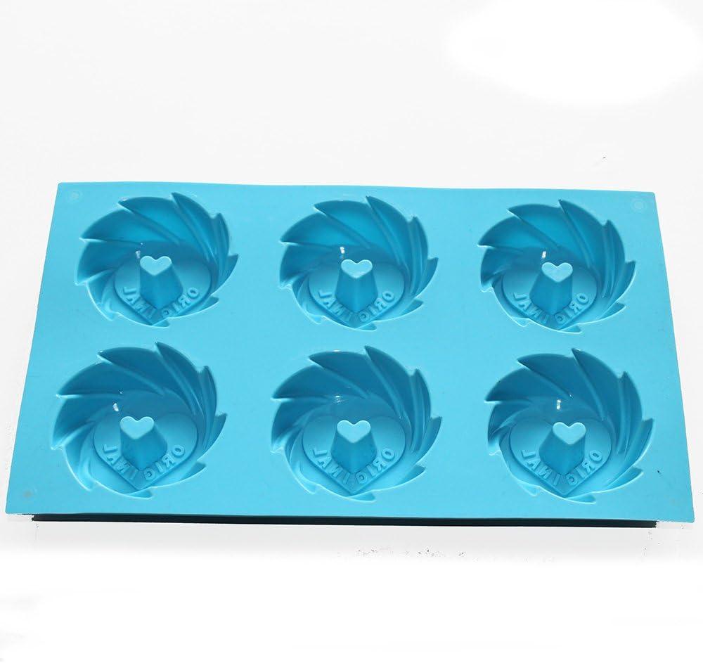 X-Haibei Cyclones Cookie Heart Mini Original Bundt Cake Pan Gelatina Silicone Baking Mold