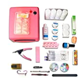 36w Lamp Uv Gel Tool Brush Remover Nail Tips Glue Acrylic Kits Diy Set