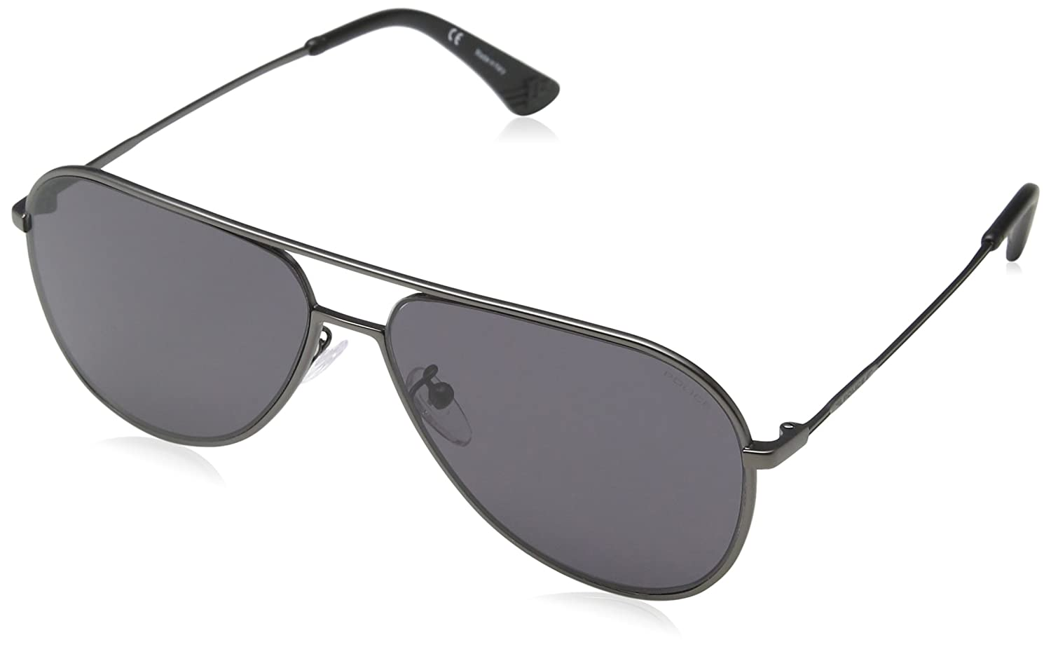 d95412b6bf Sunglasses Police HIGHWAY TWO 1 SPL359 08H5 Unisex Silver Aviator   Amazon.ca  Clothing   Accessories