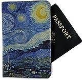 The Starry Night (Van Gogh 1889) Passport Holder - Fabric