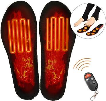 elektrischer USB-Aufladung Qdreclod Beheizte Einlegesohlen mit kabelloser Fernbedienung f/ür Herren und Damen beheizte Schuheinlagen Wandern Winter Jagd Angeln