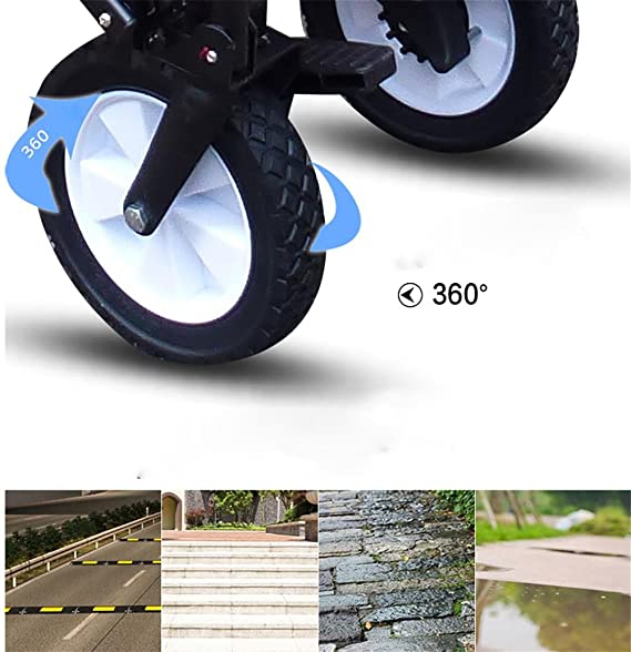 Amazon.com: HCC& Shopping Cart Dolly Outdoor Camping Baby carriage Collapsible Portable High capacity Luggage cart Rolling Swivel Wheels , A: Sports & ...