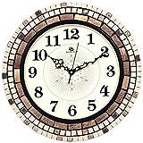 Jedfild Stylish and idyllic living room wall clock creative mosaic craft decorative Wall Clocks
