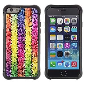 Suave TPU GEL Carcasa Funda Silicona Blando Estuche Caso de protección (para) Apple Iphone 6 PLUS 5.5 / CECELL Phone case / / Polygon Electronic 3D Lines Colorful /