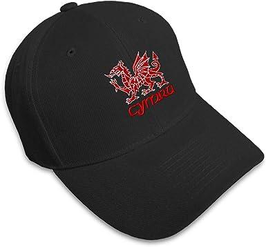 Cymru Red Dragon Welsch Flag Fashion Adjustable Cowboy Cap Baseball Cap for Women and Men