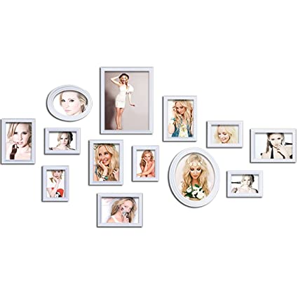 Amazon.com - OUBONO Wood Photo Collage Picture Frames Wall Collage ...