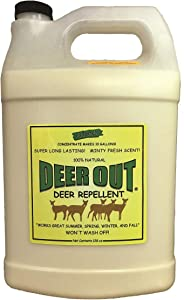 Deer Out Deer Repellent 1 Gallon Concentrate Makes 10 Gallons