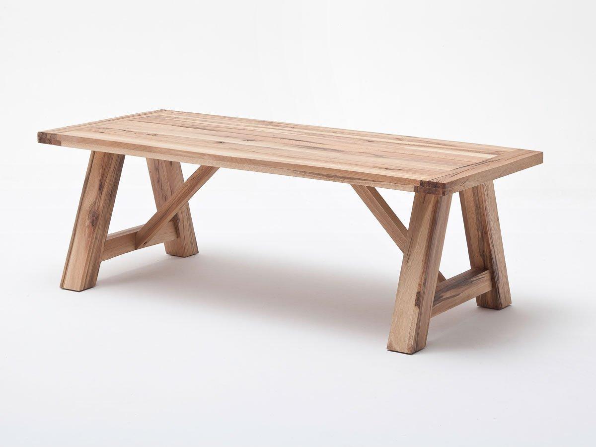 BAIKO Massivholztisch, Wildeiche, 180x100 cm