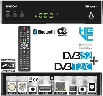 Edision Os Nino Full Hd Linux E2 Combo Receiver H 265 Hevc 1x Dvb S2 1x Dvb T2 C Wlan Onboard Bluetooth Onboard 2x Usb Hdmi Lan Linux Kartenleser Schwarz Heimkino Tv Video