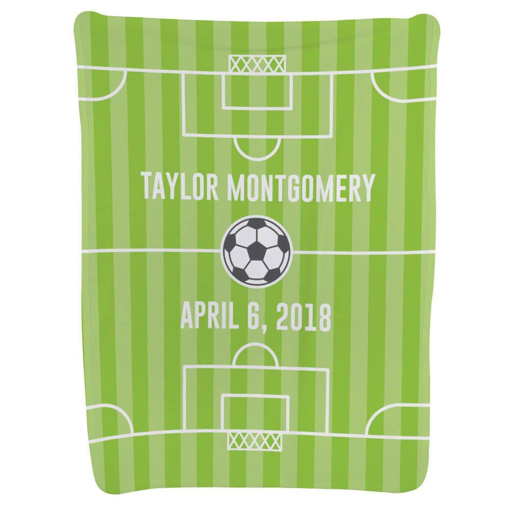 Soccer Baby & Infant Blanket | Soccer Field | Light Green