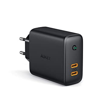 AUKEY Cargador USB C con Power Delivery 3.0 & Dynamic Detect ...