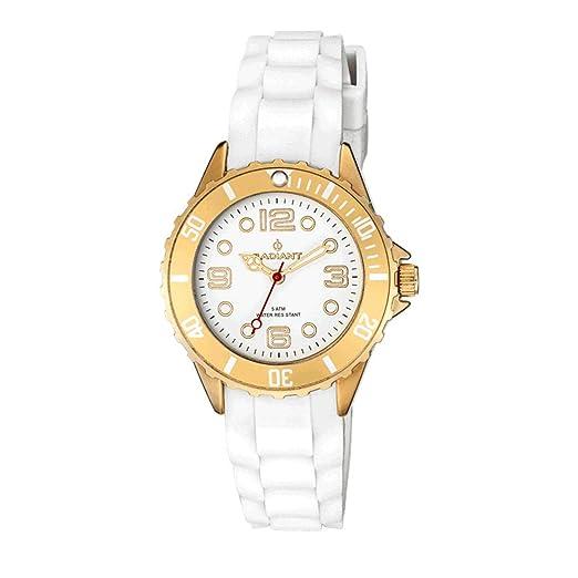 Radiant Reloj Analógico para Mujer de Cuarzo con Correa en Caucho RA261604: Amazon.es: Relojes