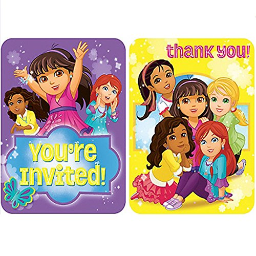 Dora the Explorer 'Dora and Friends' Invitations and Thank You Notes (8ct ea.) ()