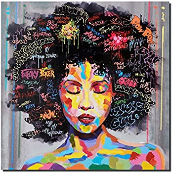 Charmant Pinetree Art African American Black Art Canvas Wall Art, Original Designed  Pop Graffiti Style Canvas