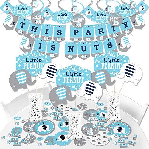 Blue Elephant - Boy Baby Shower or Birthday