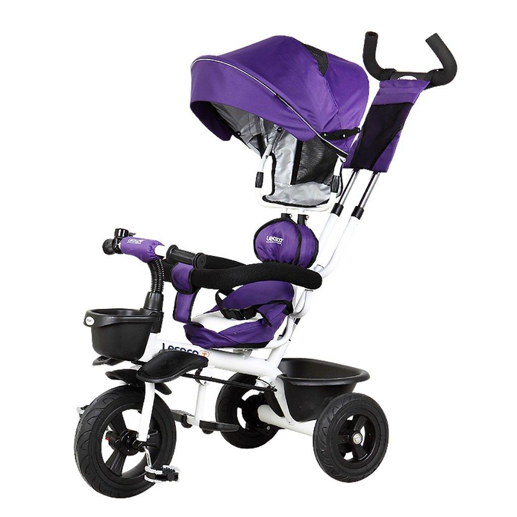 子供の金属プッシュベビー自転車/折りたたみ三輪車 (色 : B) B07DV6RG8L B B