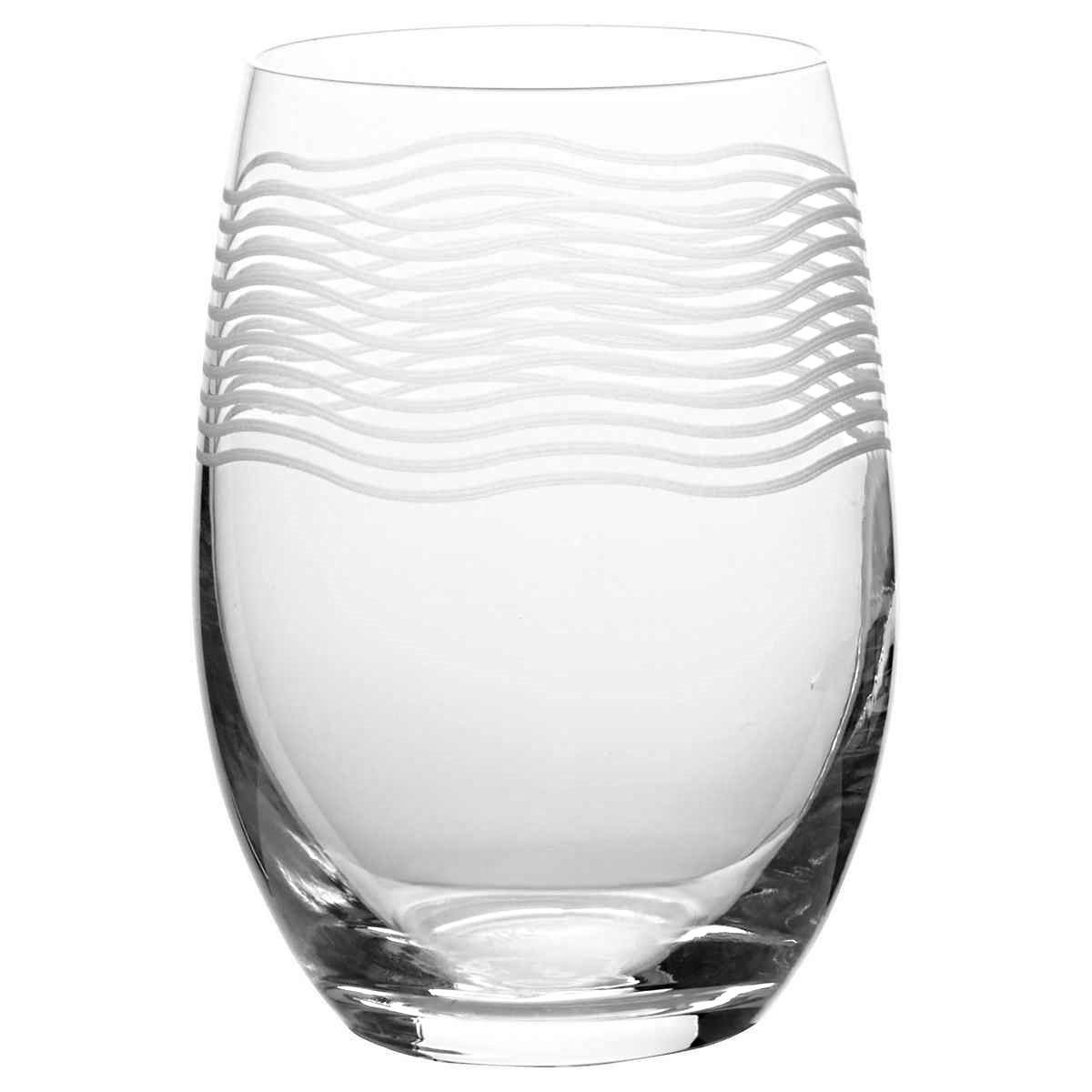 Mikasa Cheers Stemless Etched Wine Glasses, Fine European Lead-Free Crystal, 17-Ounces for Red or White Wine - Set of 6 by Mikasa (Image #4)