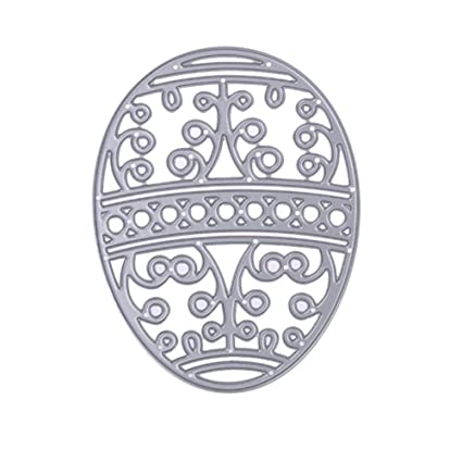 Easter Lace Eggs Cutting Dies DIY Paper Scrapbooking Carbon Steel Craft Stencils