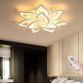 Blume Kreative Deckenlampe Led Deckenleuchte Innen Decken Beleuchtung Fur Schlafzimmer Wohnzimmer Mit Fernbedienung Kuche Esszimmer Weiss Acryl Lampenschirm Dekorative Dimmable Lampe 10 Heads Amazon De Baumarkt
