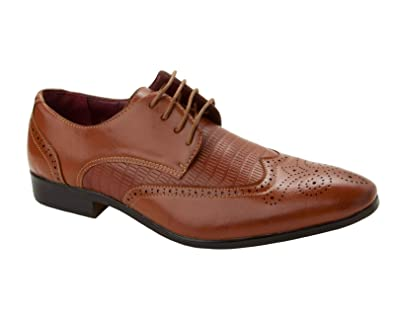 BRAND NEW MEN/'S SMART WEDDING FORMAL PATENT LACE UP SLIP ON SHOES UK SIZE 6-11