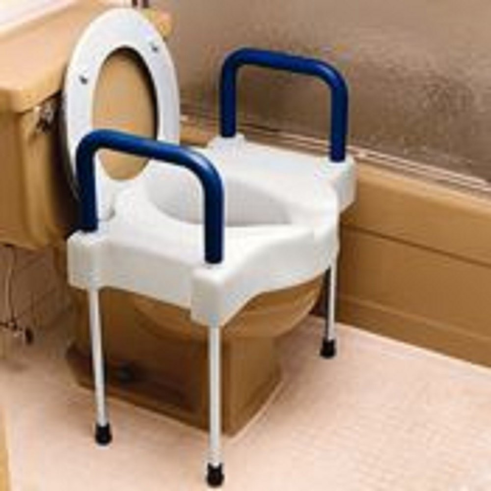 Extra Wide Tall-Ette Elevated Toilet Seat with Legs -Steel Legs QTY: 1