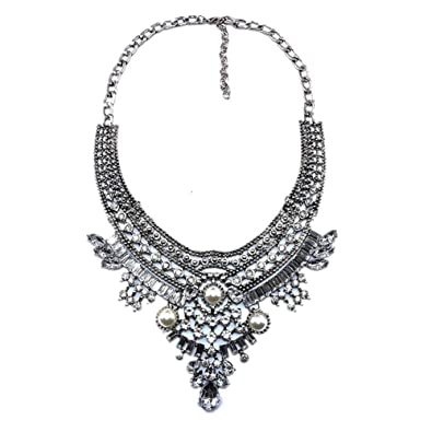 4e51fff82a58 Amazon.com  Lovage Vintage Anti Silver Gold Tone Long Boho Statement  Necklace Bohemian Indian Jewelry  Jewelry