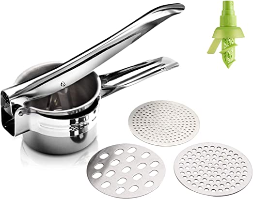 3 in 1 Stainless Steel Potato Masher Ricer Puree Fruit Vegetable Press Food Mill