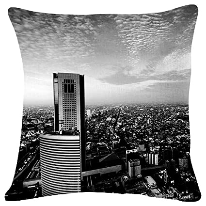 Amazon Com City Sky View From Above Throw Pillow Case Cushion