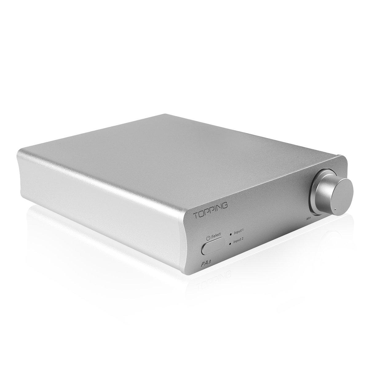 TOPPING PA3 Desktop Digital Amplifier 80W x 2(4Ω), High Power In Small Body, Silver
