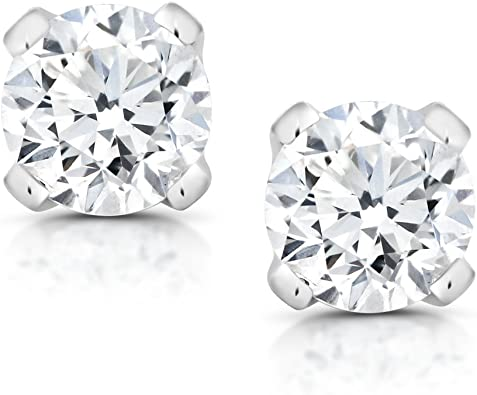 platinum and diamond earrings with 1//5 carat diamond Total