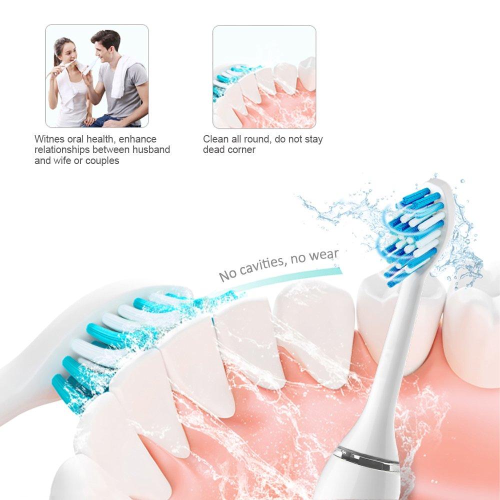 Recambios cabezales para cepillos de dientes eléctricos, Diki cabeza de repuesto batería para cepillo de dientes Sonicare intersticio fácil de limpiar ...