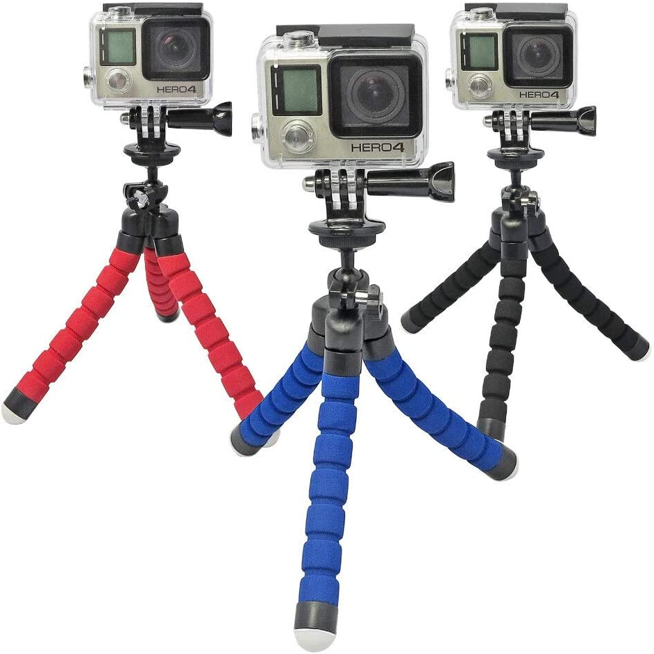 Jusun 1Pc Color : Blue 3 2 2 PC//Adapter for Sj4000 Camera Hero 3 Octopus Camera Tripod with Mobile Tripod Bracket Accessories