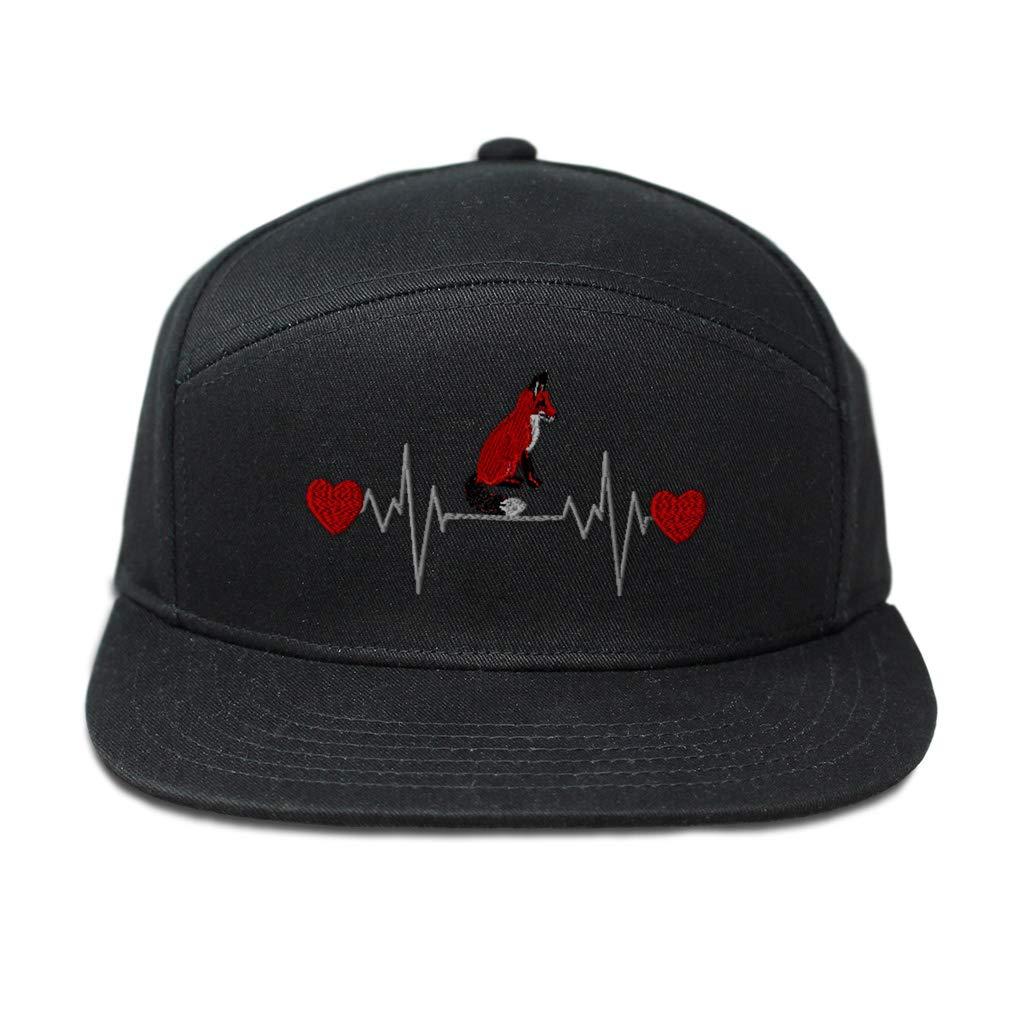 Snapback Hats for Men /& Women Sitting Red Fox Lifeline C Embroidery Cotton Black