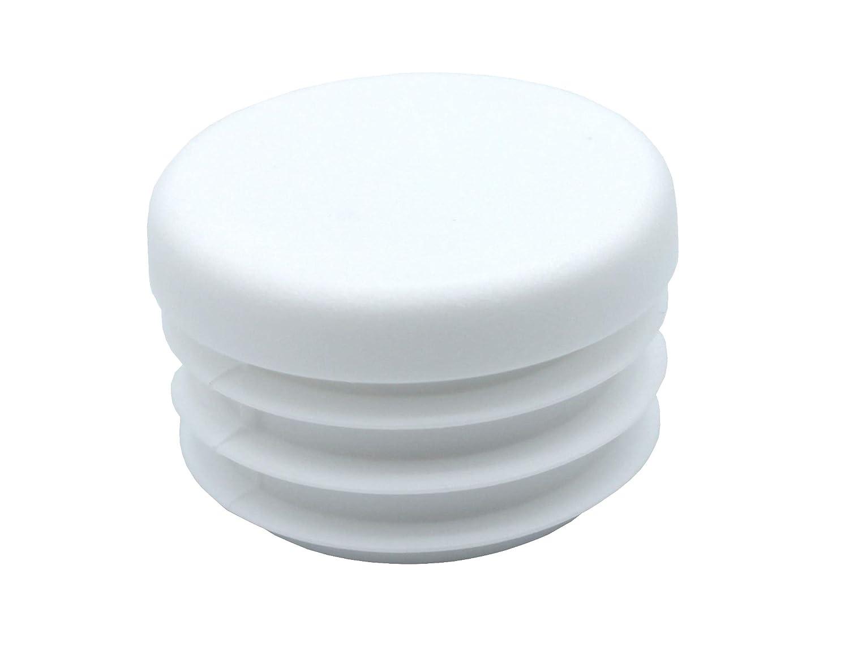 todos los tama/ños seleccionables Gris tapones redondos 10 mm hasta 60 mm tapones de l/áminas deslizadores de muebles 50 unidades de tapones redondos de tubo tapas protectoras
