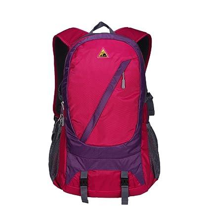 b58d5a62a904 Kimlee Large 35L Waterproof Travel Daypack School Backpack Ultralight Bike  Backpack for Men & Women Rose Red