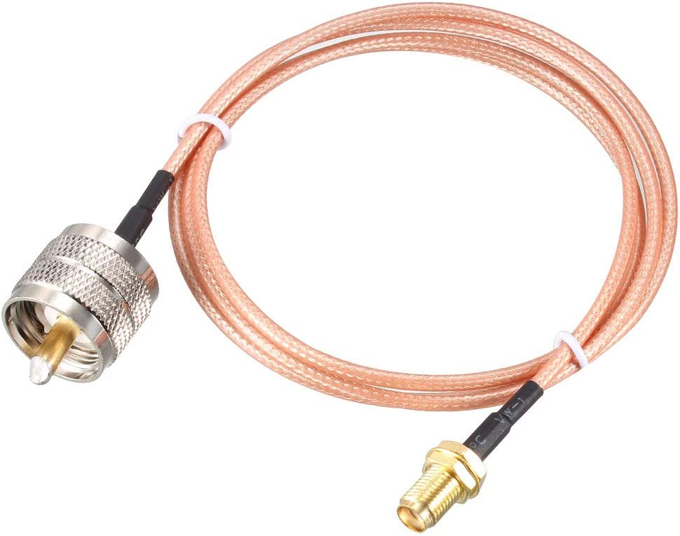 uxcell SMA Female to UHF PL-259 Male RG58 RF Coaxial Coax Cable 20 ft