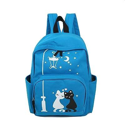 Étudiant sac à dos sac à bandoulière fille sac de voyage impression sur toile