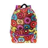 17'' Wholesale Kids Classic Padded Backpacks in DONUT Print - Bulk Case of 24 Bookbags