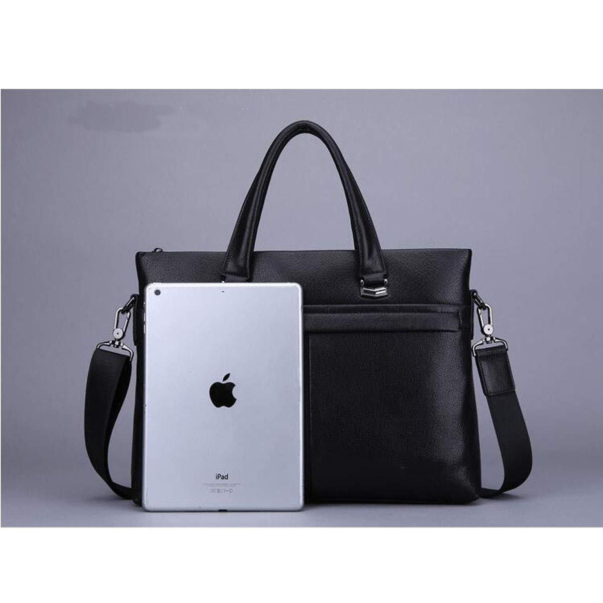 Briefcase Large Capacity Computer Bag Mens Business Top Leather Handbag Size: 38728cm