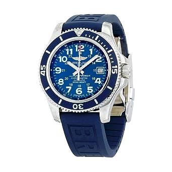 Breitling Superocean II 42 automático azul Dial Azul Goma Mens Reloj a17365d1-c915blpd3: Amazon.es: Relojes