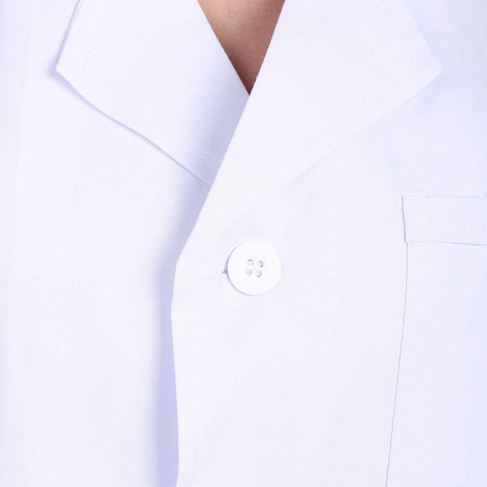 ESENHUANG Uniformes Médicos Hospital Laboratorio Escudo Estilo Mujeres Hospital Ropa Médica Uniforme Transpirable Mujeres Ropa De Trabajo Blusas: Amazon.es: ...