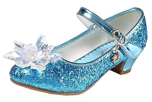 48205b5a6a63 Scothen Princesse Chaussures Paragraphe Fille Costume Ballerine Chaussures-Bow  Paillettes Carnaval Festive Pour Enfants Ballerines