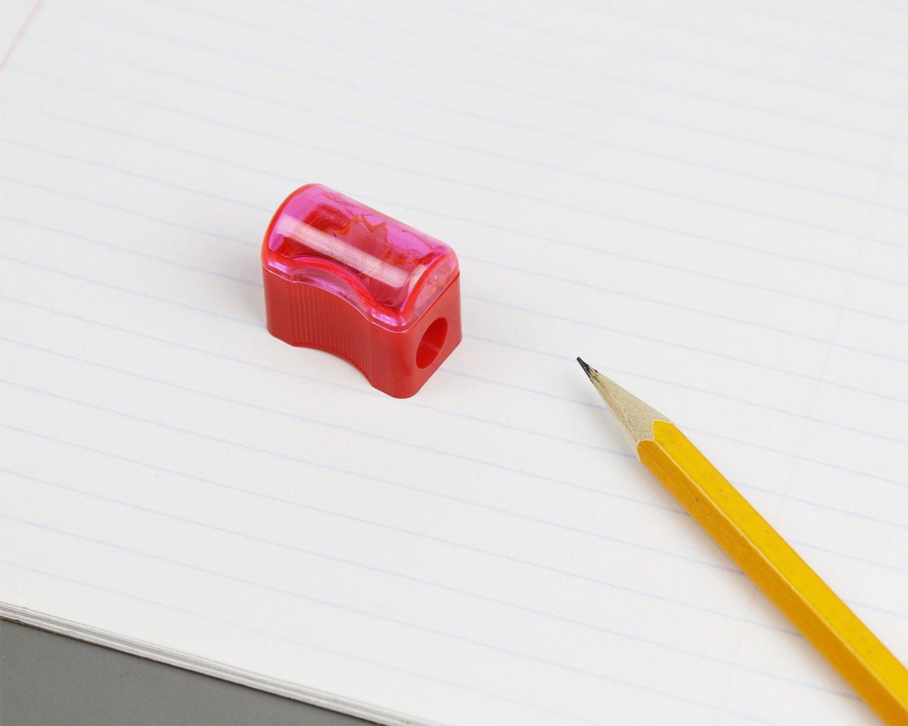 Juvale 72/plastica temperamatite/ 1/x 0.3/1,3/cm mini palmare con coperchio /manuale in colori assortiti