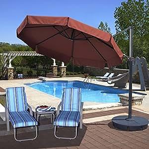 Isla paraguas nu6545Freeport Octagon Cantilever con Valance en Sunbrella acrílico