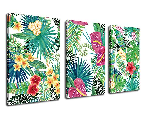 Green Plants Rainforest Canvas Art Wall Decoration Tropical Leaves Contemporary Pictures 30