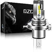 DZG H4 9003 - Faros delanteros LED para motocicleta, sin ventilador, HB2, HS1, H19, P43t, foco LED todo en uno, luz alta…