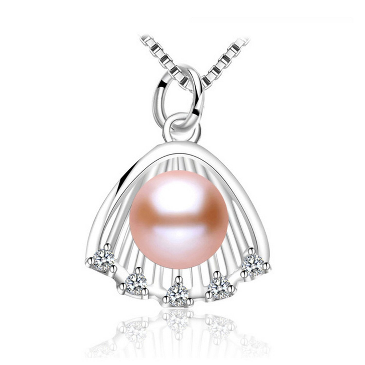 CS-DB Pendants New Shell Design Pearl Silver Necklaces