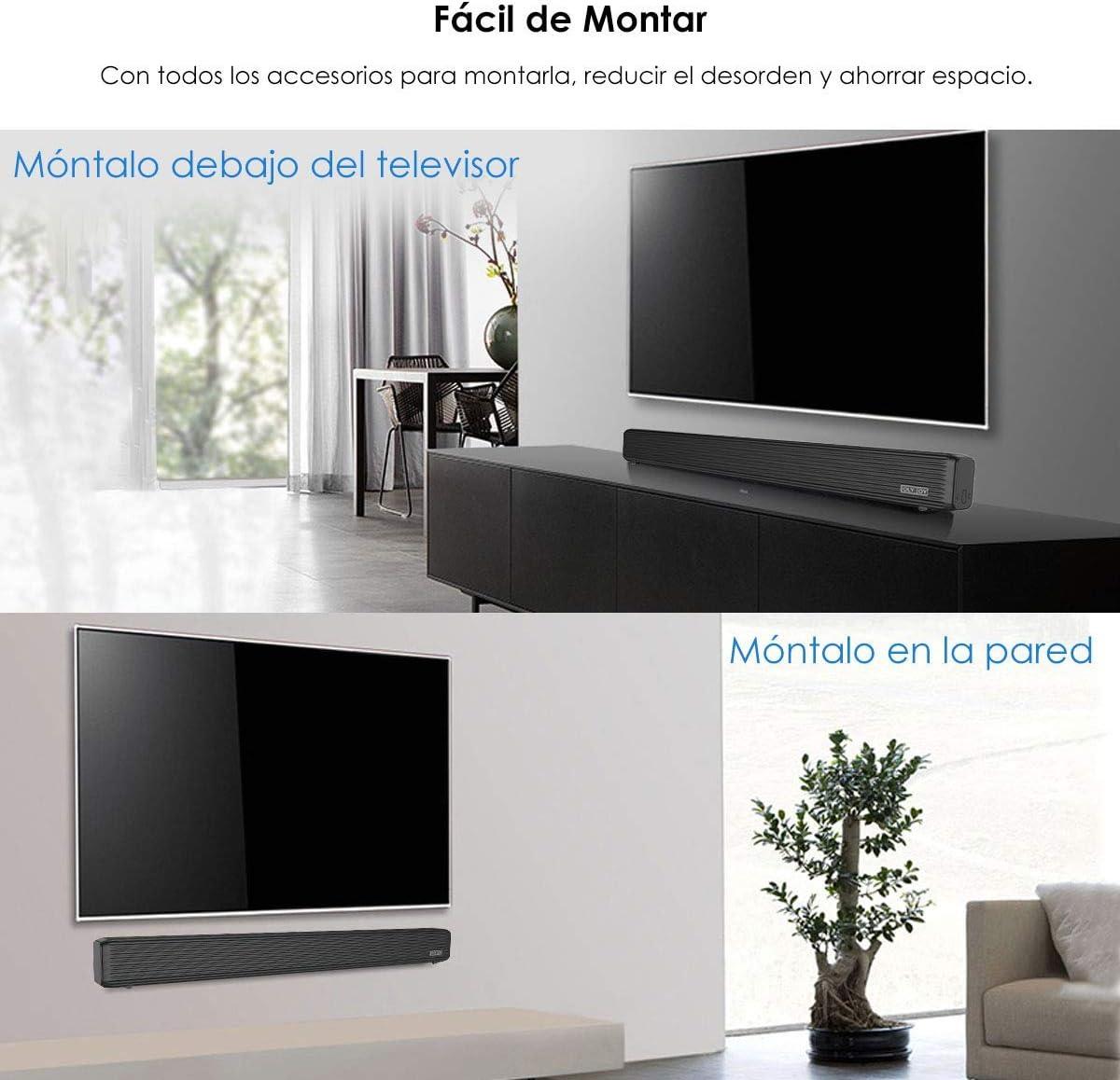 Barra de Sonido, Wellwerks 95W Altavoz de Audio para TV Bluetooth V4.2 [Conexiones Alámbrico/Inalámbrico] Bluetooth Sound-Bar Subwoofer para TV/Computer/Video/Music,etc. (95W): Amazon.es: Electrónica